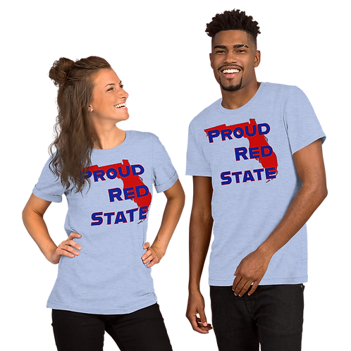 Proud Red State Florida Short-Sleeve Unisex T-Shirt