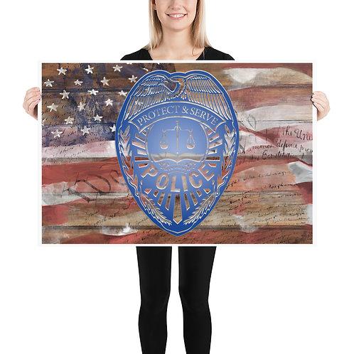 POLICE DEPT (& Flag) Poster