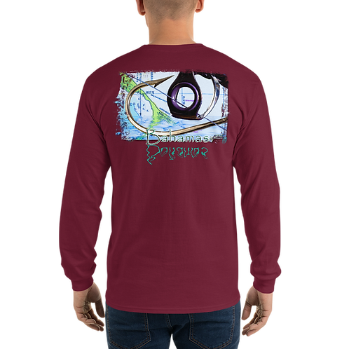 "Bahamas ""Hook & Eye"" (Reel Gear logo front chest) Men's Long Sleeve Shirt"