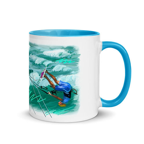 Kite Boarding Mug with Color Inside