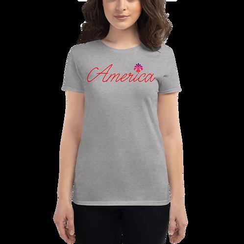 America Women's short sleeve t-shirt
