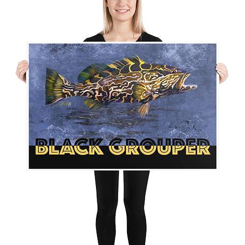 Black Grouper Poster