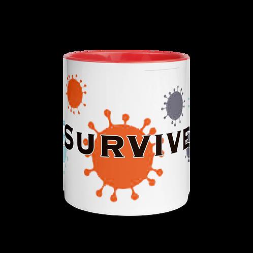 I SURVIVED Mug with Color Inside