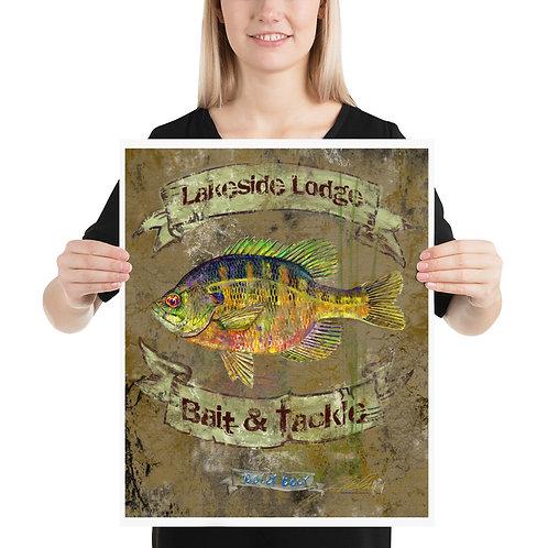Lakeside Lodge Poster Bluegill (16x20)