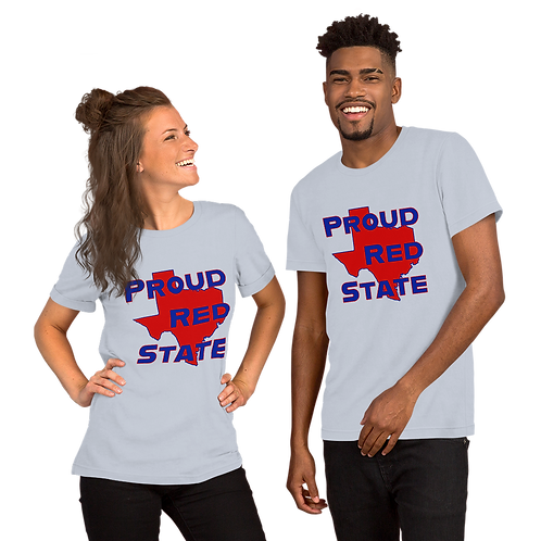 Proud Red State TX Short-Sleeve Unisex T-Shirt