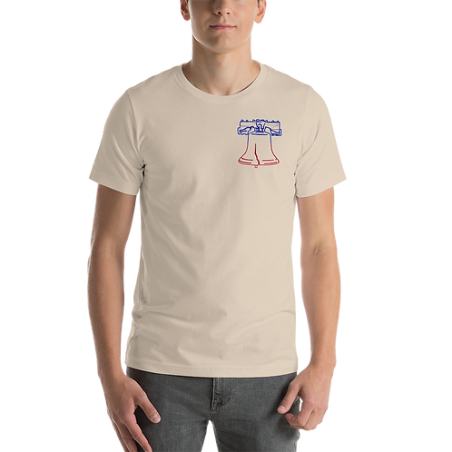 Liberty Bell Outline Short-Sleeve Unisex T-Shirt