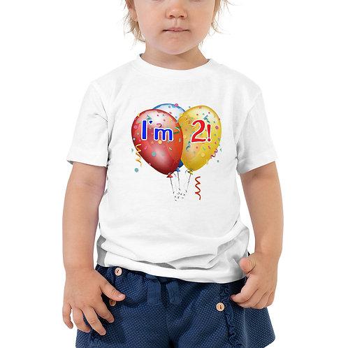 I'm 2! Toddler Short Sleeve Tee