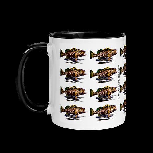 Black Grouper Mug with Color Inside