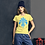 Thumbnail: Light Blue Design Women's short sleeve t-shirt
