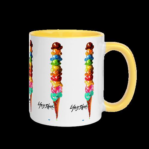 Life is Short Mug with Color Inside