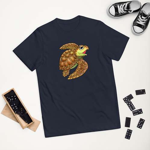 """""""CHAINPLATE THE GREEN TURTLE"""" Youth jersey t-shirt"""
