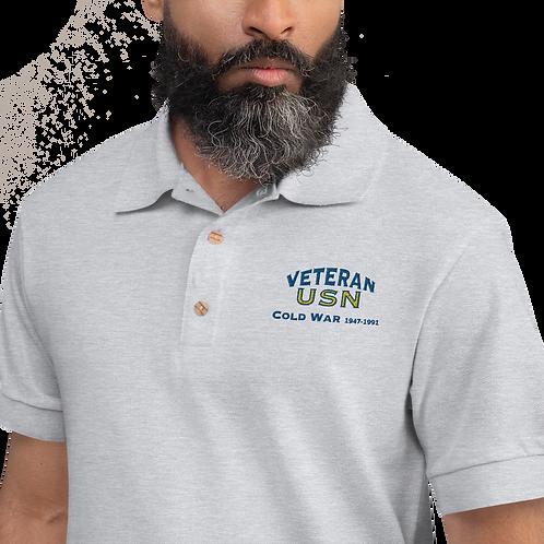 Cold War USN Embroidered Polo Shirt