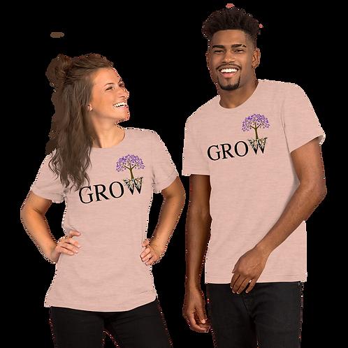GROW (purple) Short-Sleeve Unisex T-Shirt