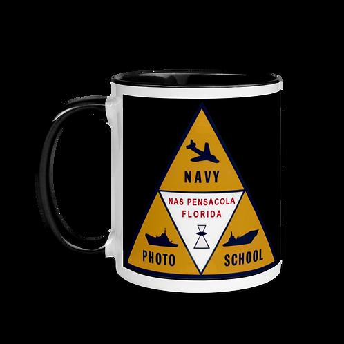 Navy Photo School Mug with Color Inside