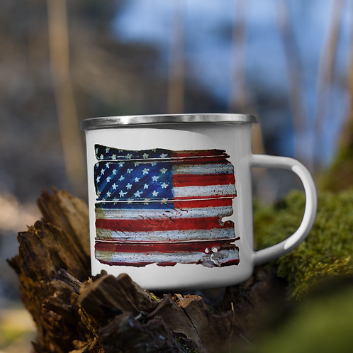 We the People Flag (color) Enamel Mug