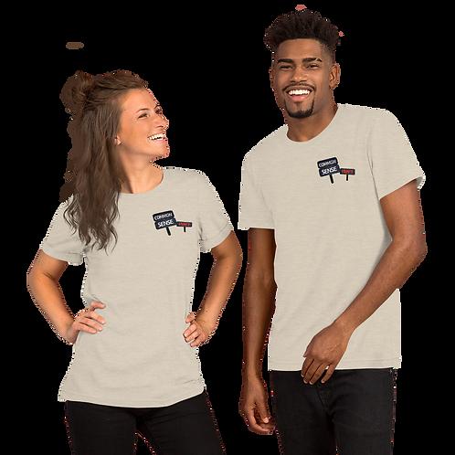 Common Sense Isn't chest Short-Sleeve Unisex T-Shirt