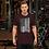 Thumbnail: Vertical B&W Flag Short-Sleeve Unisex T-Shirt