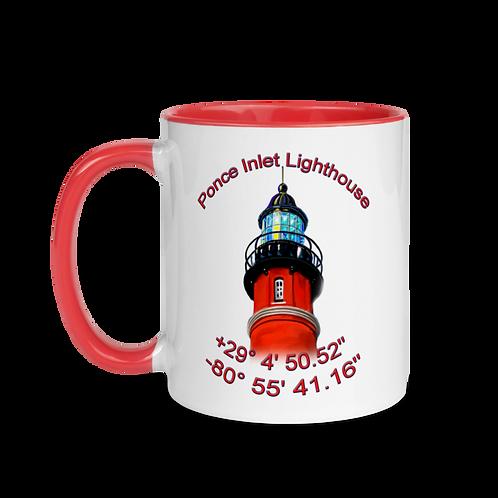 Ponce Inlet Lighthouse Mug with Color Inside