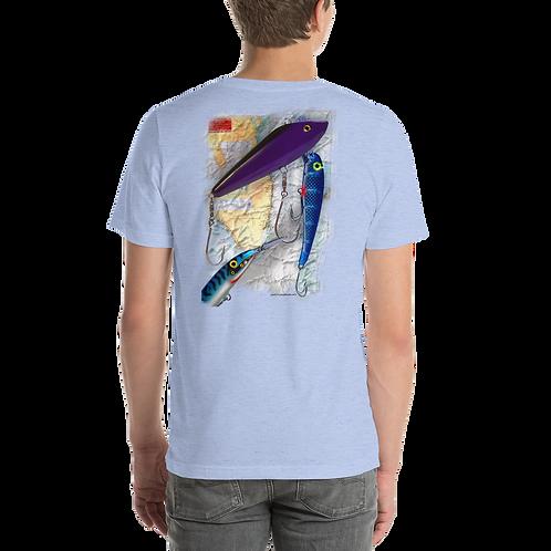 Lures on Florida map Short-Sleeve Unisex T-Shirt