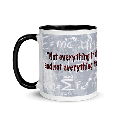 Not everything that counts... Mug with Color Inside