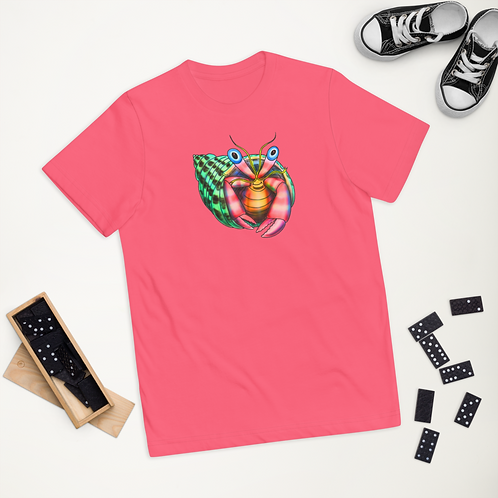 """""""TRAVELER THE HERMIT CRAB"""" Youth jersey t-shirt"""