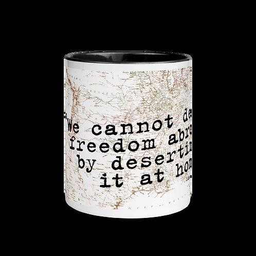 Defend Freedom Mug with Color Inside