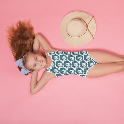 Spinnaker the Porpoise All-Over Print Kids Swimsuit