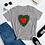 Thumbnail: red splatter heart Women's short sleeve t-shirt