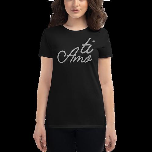 Ti Amo Grey Women's short sleeve t-shirt