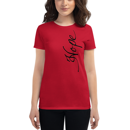 """Handwritten """"Hope"""" Women's short sleeve t-shirt"""