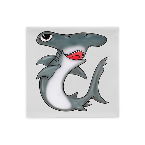 Cleat the Hammerhead Shark Pillow Case