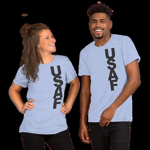 USAF (dk grey) Short-Sleeve Unisex T-Shirt