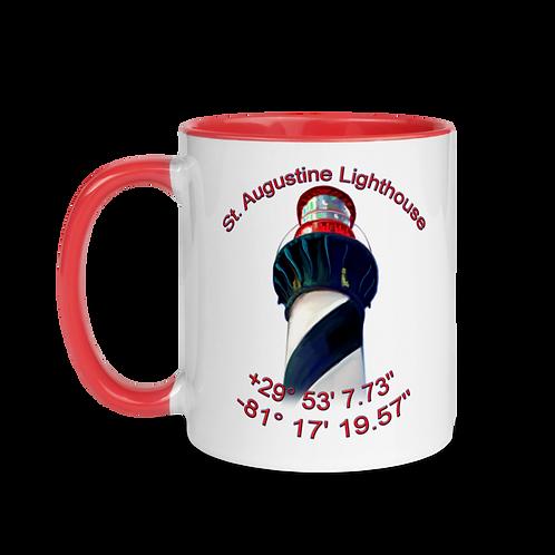 Saint Augustine Lighthouse Mug with Color Inside