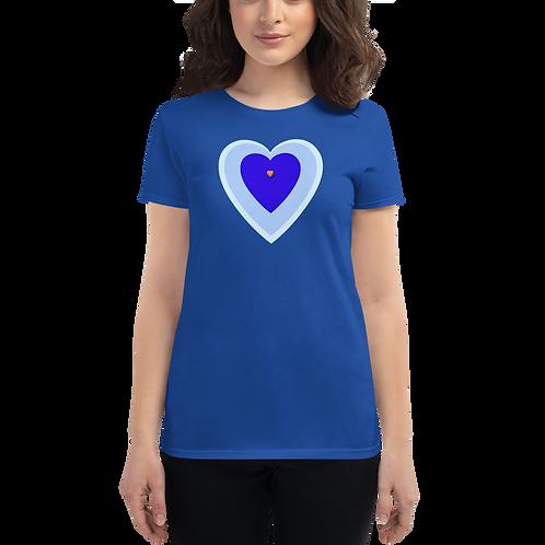 Blue Heart Women's short sleeve t-shirt