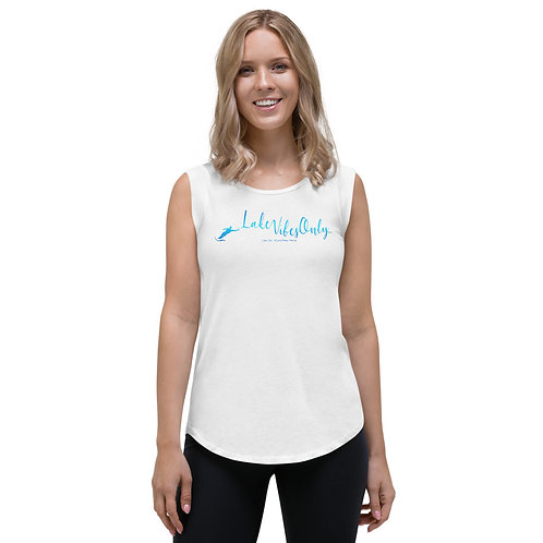 Lake Vibes Only Special Request Ladies' Cap Sleeve T-Shirt