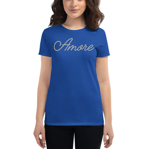 Amore grey Women's short sleeve t-shirt