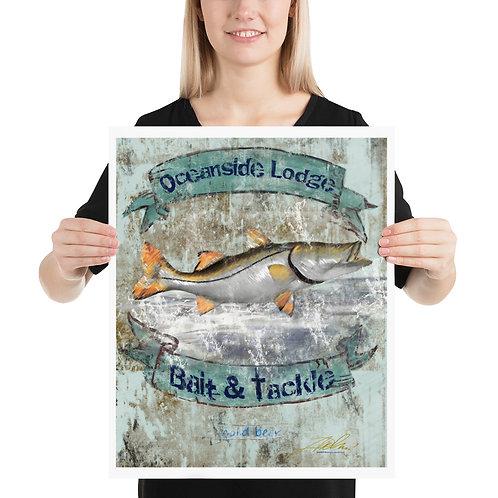 Oceanside lodge Snook (16x20) Poster