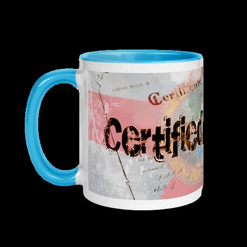 Certified Snowbird Mug with Color Inside