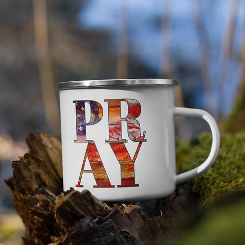 PRAY Enamel Mug