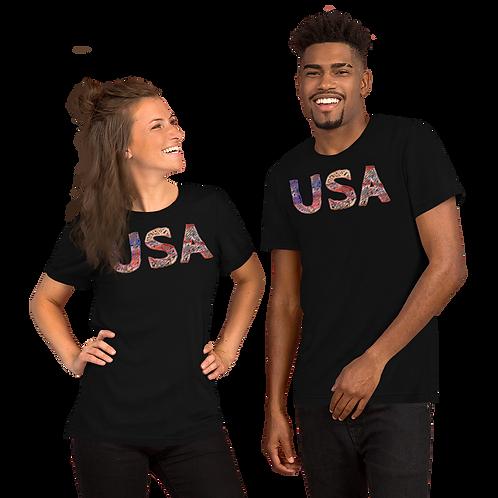 USA (scratch design) Short-Sleeve Unisex T-Shirt
