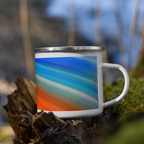ABSTRACT Enamel Mug