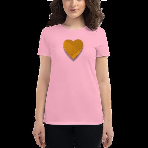Gold Heart Women's short sleeve t-shirt