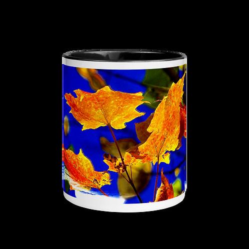 Fall Leaves Mug with Color Inside