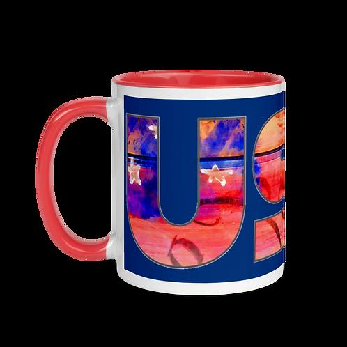USA Mug with Color Inside