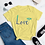 Thumbnail: Love (Blue) Women's short sleeve t-shirt
