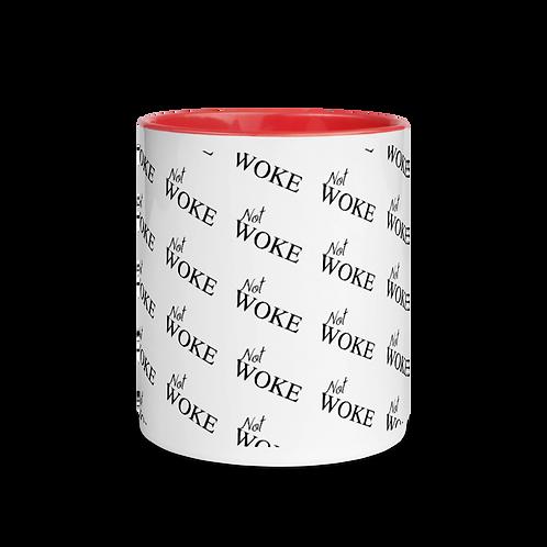 NOT WOKE Mug with Color Inside