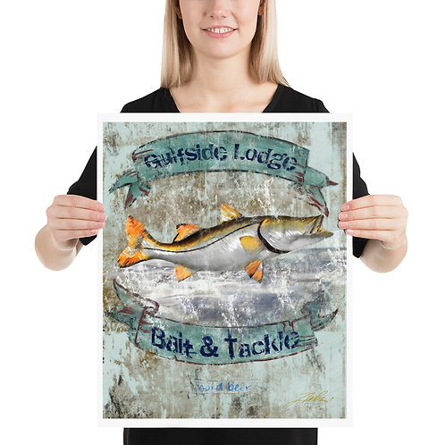 GULFSIDE LODGE SNOOK 16x20 Poster