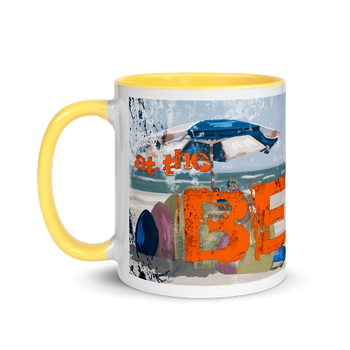 At the Beach Mug with Color Inside