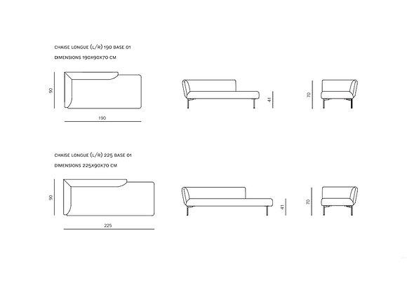 Canapé Prostoria Impression | Chaise Longue