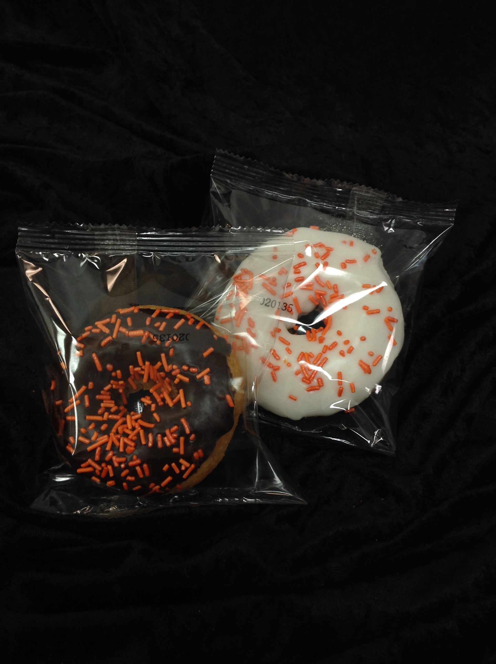 Individually Wrapped Donuts w/ School Colors
